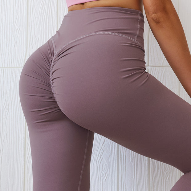 Subdued High Waisted Scrunch Leggings in Pastel Violet | Allure Apparel Co