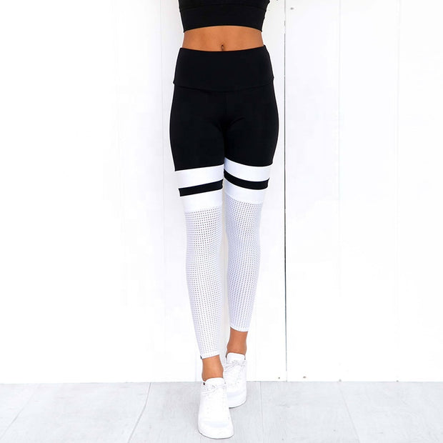 Women's High Waist Active Netted Leggings | Allure Apparel Co