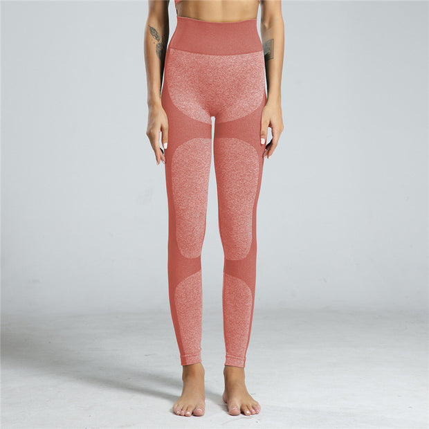 High Waisted Contrast Patchwork Leggings in Rose | Allure Apparel Co