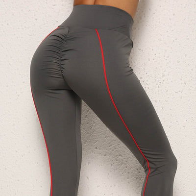 Side Line Push Up Fitness Workout Leggings in Gray | Allure Apparel Co
