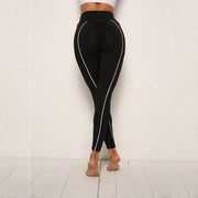Side Line Push Up Fitness Workout Leggings in Black | Allure Apparel Co