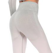 Silver Candy Seamless Leggings (Silver / Pink) | Allure Apparel Co