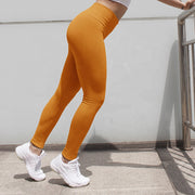 Women's High Waisted Seamless Leggings in Apricot | Allure Apparel Co
