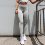 Women's High Waisted Seamless Leggings in Grey | Allure Apparel Co