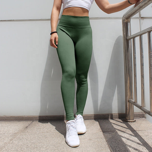 Women's High Waisted Seamless Leggings in Olive | Allure Apparel Co