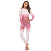 Miami Vice Seamless Leggings (Pink / White) | Allure Apparel Co