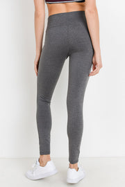 Grey High Waisted Essential Full Leggings | Allure Apparel Co