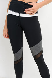 High Waisted Incline Mesh Leggings in Black | Allure Apparel Co
