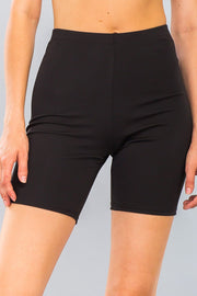 Basic Stretch Jersey Knit Bike Shorts in Black | Allure Apparel Co