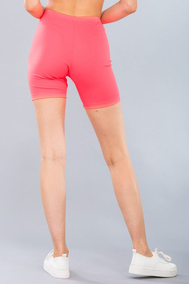 Basic Stretch Jersey Knit Bike Shorts in Neon Pink | Allure Apparel Co