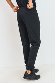 Cinched Ankle Active Joggers in Black | Allure Apparel Co