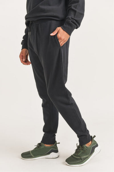 Cotton Terry Essential Joggers in Black | Allure Apparel Co
