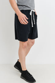 Drawstring Athletic Leisure Shorts in Black | Allure Apparel Co