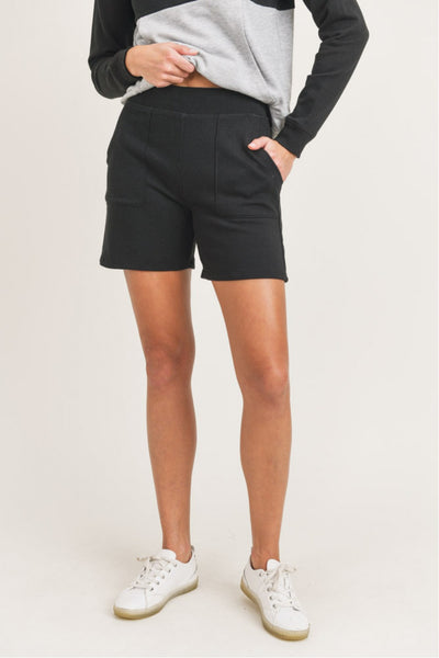 Essential Mid-Thigh Shorts in Black | Allure Apparel Co