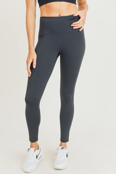 Essential Solid High Waist Leggings in Black | Allure Apparel Co