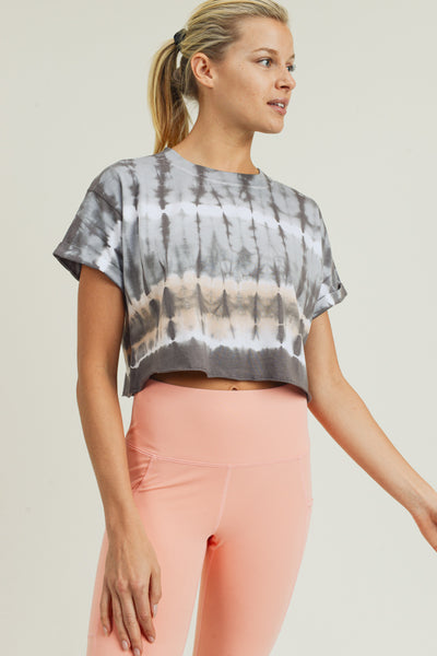 Essential Tiger-Dye Crop Top | Allure Apparel Co