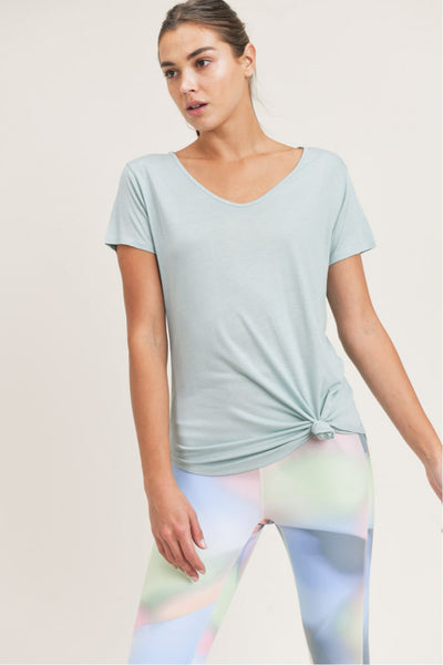 Essential Wave Side Top in Surf Spray | Allure Apparel Co