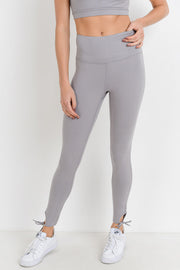 High Waisted Ankle Tie Leggings in Mauve | Allure Apparel Co