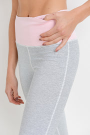 High Waisted Color Block Stripe Pastel Leggings | Allure Apparel Co