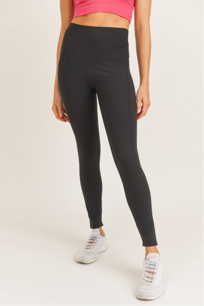 High Waisted Essential Leggings in Black | Allure Apparel Co