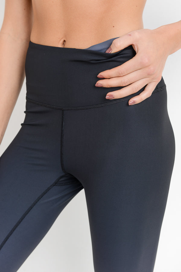High Waisted Essential Ombre Leggings in Charcoal | Allure Apparel Co