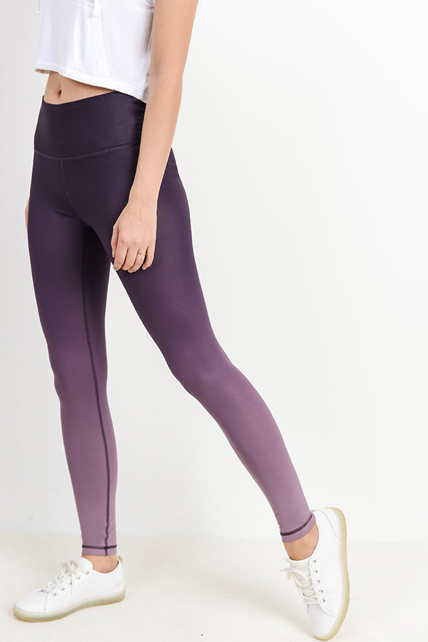 High Waisted Essential Ombre Leggings in Purple | Allure Apparel Co