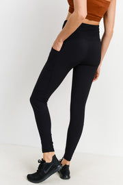 High Waisted Essential Ribbed Pocket Leggings | Allure Apparel Co