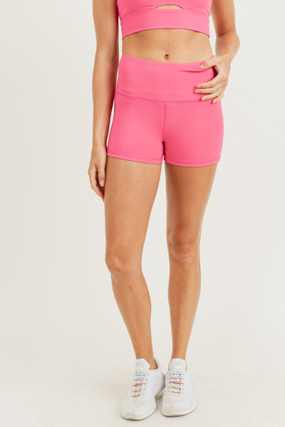 High Waisted Short Shorts in Hot Pink | Allure Apparel Co