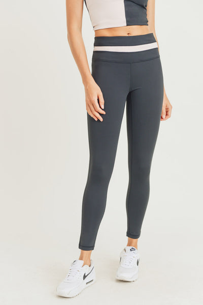 High Waisted Split Waist Leggings in Black | Allure Apparel Co
