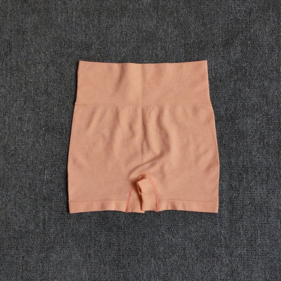 High Waisted Vital Seamless Yoga Shorts in Peach Melba | Allure Apparel Co