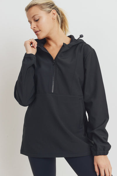 Inner Fleece Polar Hoodie Pullover in Black | Allure Apparel Co
