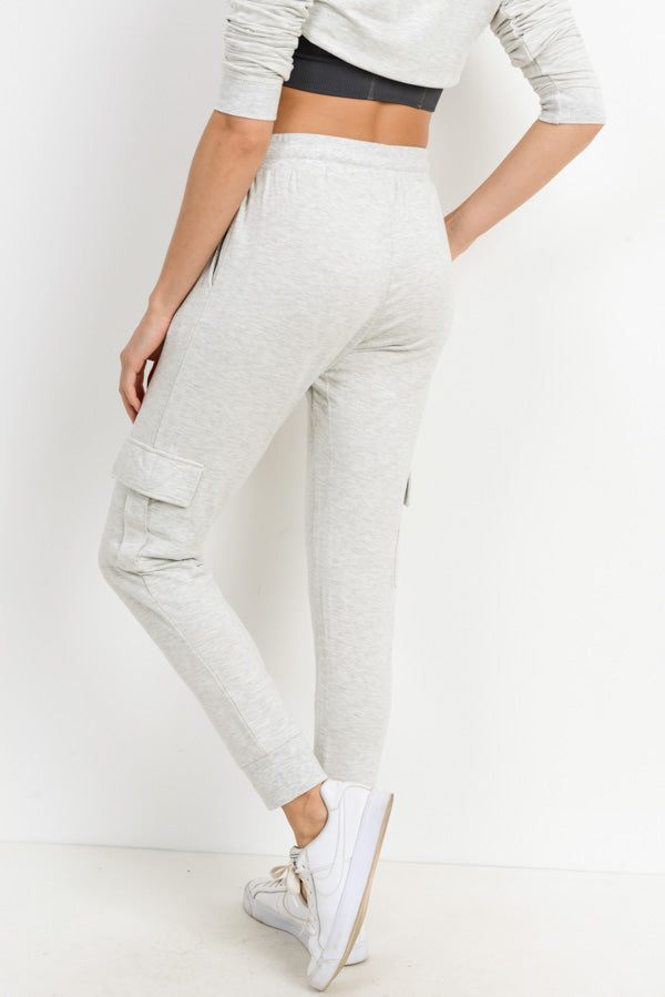Cargo Brushed Sweatpants in Grey | Allure Apparel Co