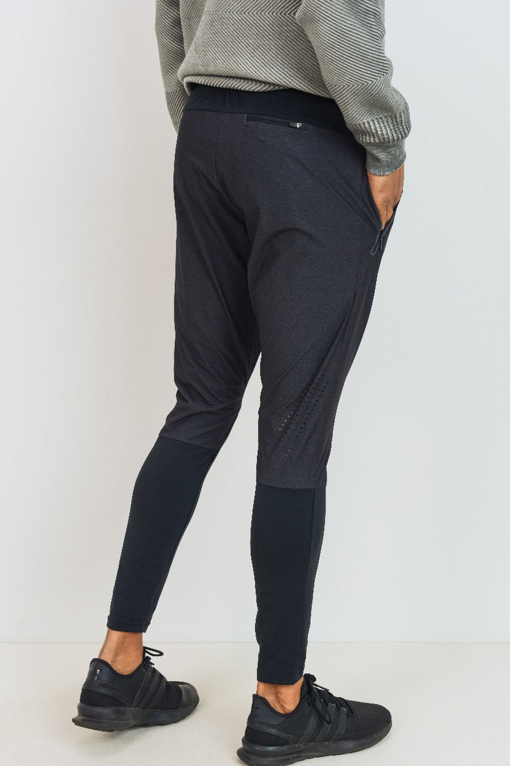 Laser Cut Athletic Joggers in Black | Allure Apparel Co