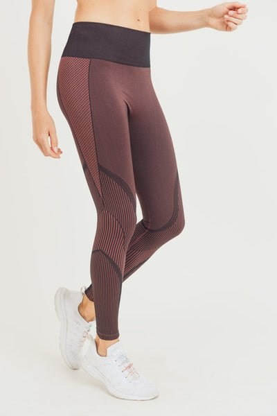 Mermaid Seamless High Waisted Leggings in Burgundy | Allure Apparel Co
