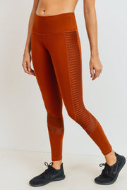 Moto Glide Mesh Full Leggings in Acorn | Allure Apparel Co