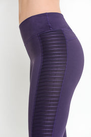 Moto Glide Mesh Full Leggings in Eggplant | Allure Apparel Co