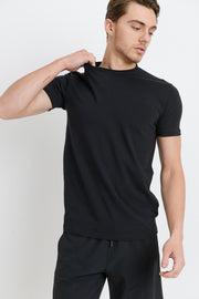Cool Touch Cotton Blend Crewneck Essential Active Shirt in Black | Allure Apparel Co