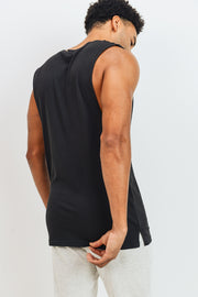 Essential Cotton-Blend Jersey Muscle Shirt in Black | Allure Apparel Co