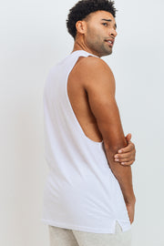 Essential Cotton-Blend Jersey Muscle Shirt in White | Allure Apparel Co