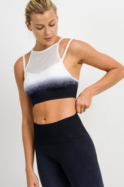 Ombré Dip-Dye Seamless Perforated Sports Bra | Allure Apparel Co