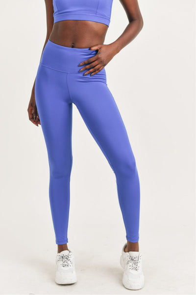Perforated High Waisted Leggings in Royal Blue | Allure Apparel Co