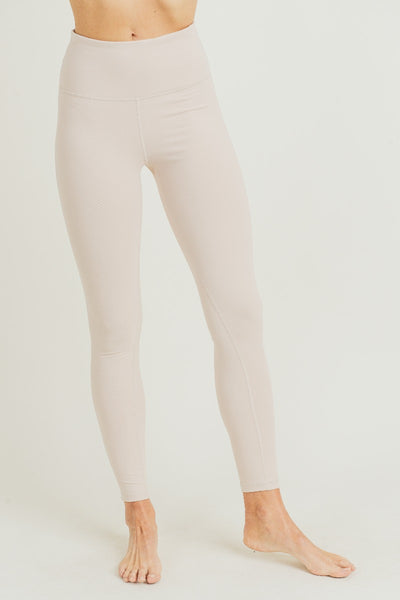 Performance High Waisted Essential Solid Leggings in Nude | Allure Apparel Co