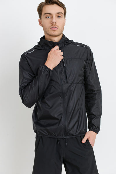 Pocket Nylon Hoodie Jacket | Allure Apparel Co