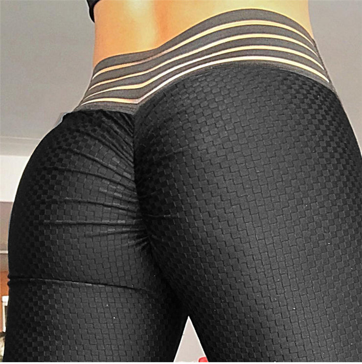 Close up Breathable Pattern High Waist Push Up Scrunch Leggings