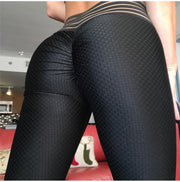 Back of Breathable Pattern High Waist Push Up Scrunch Leggings