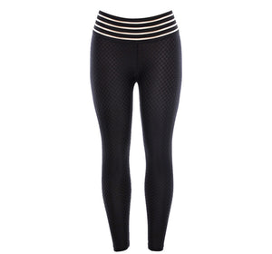 Breathable Pattern High Waist Push Up Scrunch Leggings