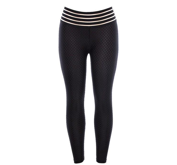 Front view Breathable Pattern High Waist Push Up Scrunch Leggings