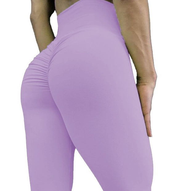 High Waisted Bottom Scrunch Leggings - Allure Apparel Co