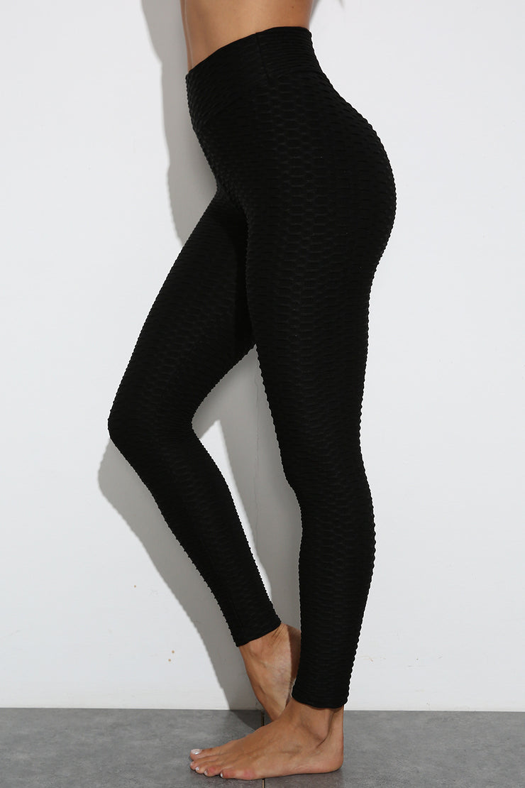 Push Up Workout Leggings in Black | Allure Apparel Co
