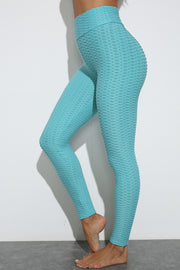 Push Up Workout Leggings in Blue | Allure Apparel Co